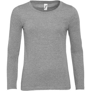 Abbigliamento Donna T-shirts a maniche lunghe Sols MAJESTIC COLORS GIRL Gris