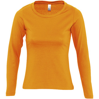 Abbigliamento Donna T-shirts a maniche lunghe Sols MAJESTIC COLORS GIRL Naranja