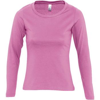 Abbigliamento Donna T-shirts a maniche lunghe Sols MAJESTIC COLORS GIRL Rosa