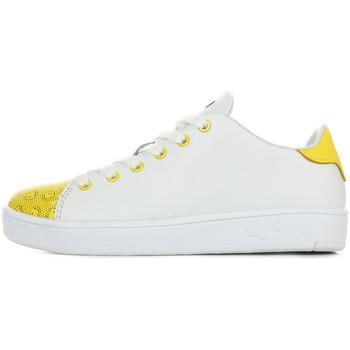 Scarpe Unisex bambino Sneakers Smiley Enjoy Bianco