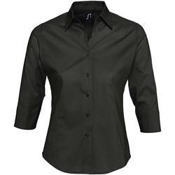 Abbigliamento Donna Camicie Sols EFFECT ELEGANT Negro