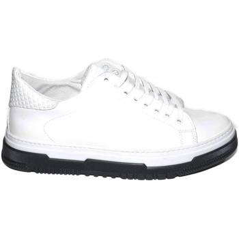 Scarpe Uomo Sneakers basse Made In Italia Sneakers uomo bassa bianca vera pelle gommata con fortino piram BIANCO