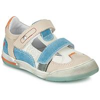 Scarpe Bambino Sneakers basse GBB PRINCE Bianco / Beige / Blu