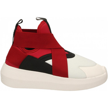 Scarpe Donna Sneakers alte Fessura HI-TWINS BEAT white-black