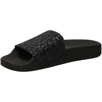 Scarpe Donna ciabatte The White Brand GLITTER black-nero