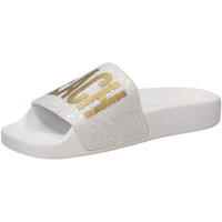 Scarpe Donna ciabatte The White Brand GLITTER BEACH PLEASE white-bianco