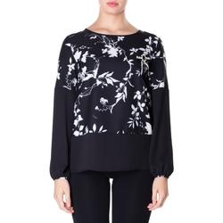 Abbigliamento Donna Camicie Luckylu BLUSA CREPE STAMPATO 0714-bianco-nero