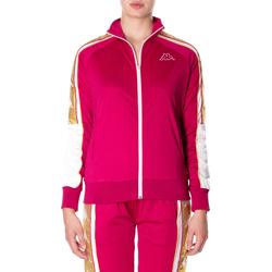 Abbigliamento Donna Felpe Kappa BANDA 10 ANAY 906-rosso-bianco