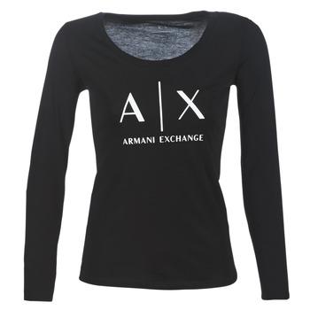 Abbigliamento Donna T-shirts a maniche lunghe Armani Exchange 8NYTDG-YJ16Z-1200 Nero