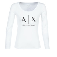 Abbigliamento Donna T-shirts a maniche lunghe Armani Exchange 8NYTDG-YJ16Z-1000 Bianco