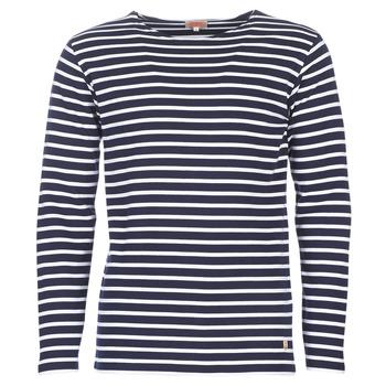 Abbigliamento Uomo T-shirts a maniche lunghe Armor Lux VERMO Marine / Bianco