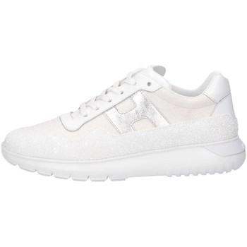 Scarpe Unisex bambino Sneakers basse Hogan HXC3710AP30KY90351 Sneakers Bambina Bianco Bianco