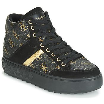 Scarpe Donna Sneakers alte Guess FIXIN Nero