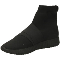 Scarpe Donna Sneakers alte Fessura DINGHY KNIT black-nero