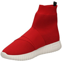 Scarpe Donna Sneakers alte Fessura DINGHY KNIT red-rosso