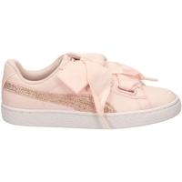 Scarpe Donna Sneakers basse Puma BASKET HEART CANVAS pergo-rosa