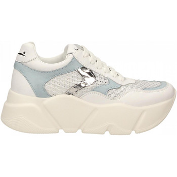 Scarpe Donna Sneakers basse Voile Blanche MONSTER MESH bianco-argento