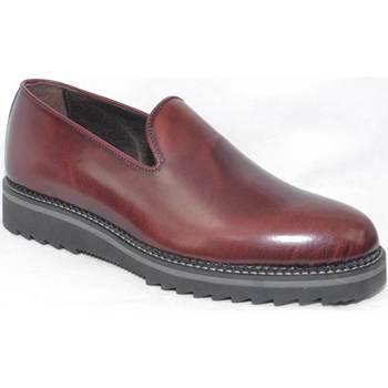 Scarpe Uomo Mocassini Malu Shoes Scarpe uomo mocassino vera pelle bordeaux fondo squaletto antis BORDEAUX