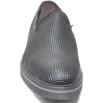 Scarpe Uomo Mocassini Malu Shoes Scarpe mocassino pelle piramide nero lucido abrasivato fondo ne NERO
