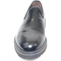 Scarpe Uomo Mocassini Malu Shoes Scarpe uomo mocassino pelle nero lucido abrasivato fondo righo NERO