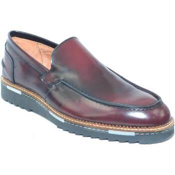 Scarpe Uomo Mocassini Malu Shoes Scarpe uomo mocassino college bendina in  vera pelle abrasivato BORDEAUX 7cb3ba79da9
