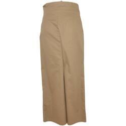 Abbigliamento Donna Pantaloni morbidi / Pantaloni alla zuava Malu Shoes Panta gonna palazzo donna beige in cotone morbido e sottile con BEIGE