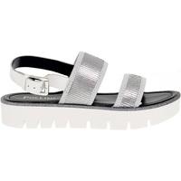 Scarpe Donna Sandali Pollini Sandalo basso argento,bianco,multicolore