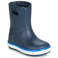 Scarpe Unisex bambino Stivali da pioggia Crocs CROCBAND RAIN BOOT K Marine