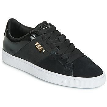Scarpe Donna Sneakers basse Puma BASKET REMIX Nero / Dore