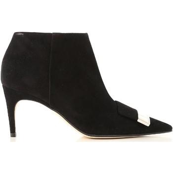 Scarpe Donna Stivaletti Sergio Rossi stivaletti alla caviglia con tacco donna in pel nero