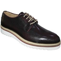 Scarpe Uomo Derby Made In Italia Scarpe stringate art 6892 microforato bordeaux  abrasivato fond BORDEAUX