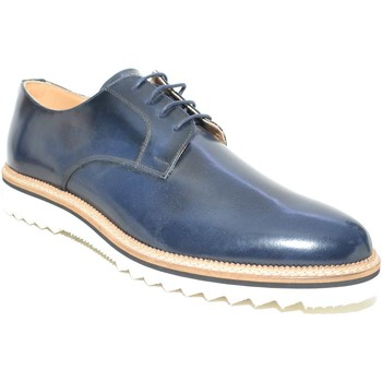 Scarpe Uomo Derby Made In Italia Scarpe stringate blu abrasivato art 4567 ultraleggero fondo lig BLU