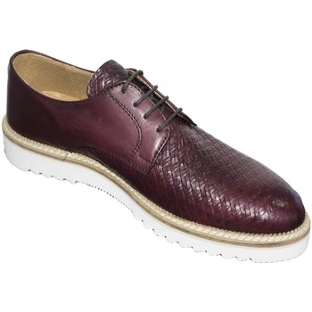 Scarpe Uomo Derby Made In Italia Scarpe uomo stringate art 024538 crust bordeaux intreccio vera BORDEAUX