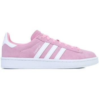Scarpe Bambina Sneakers basse adidas Originals Campus J Bianco, Rosa