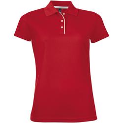 Abbigliamento Donna Polo maniche corte Sols PERFORMER SPORT WOMEN Rojo