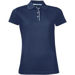 Abbigliamento Donna Polo maniche corte Sols PERFORMER SPORT WOMEN Azul