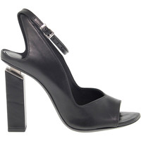 Scarpe Donna Sandali Vic Sandalo con tacco  in pelle nero