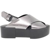 Scarpe Donna Sandali Vic Sandalo basso grigio,multicolore,nero