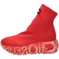 Scarpe Donna Sneakers alte Gioselin WAR Rosso