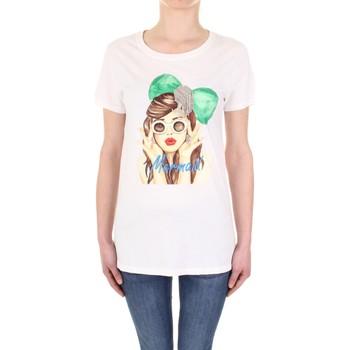 Abbigliamento Donna T-shirt maniche corte Vicolo RU0081 Panna