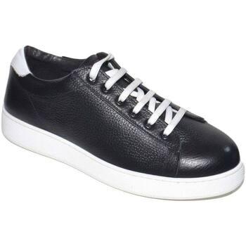 Scarpe Uomo Sneakers basse Made In Italia Sneakers bassa nera e bianco uomo linea basic fondo antiscivolo NERO
