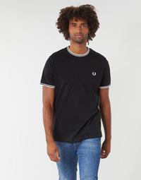 Abbigliamento Uomo T-shirt maniche corte Fred Perry TWIN TIPPED T-SHIRT Nero