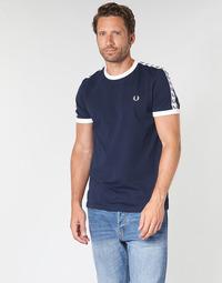 Abbigliamento Uomo T-shirt maniche corte Fred Perry TAPED RINGER T-SHIRT Marine