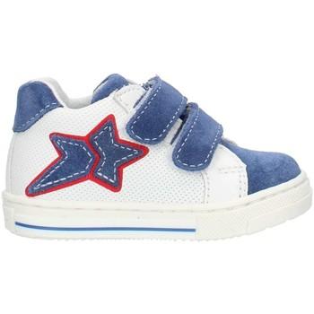 Scarpe Bambina Sneakers alte Balocchi 493265 Blu e bianco