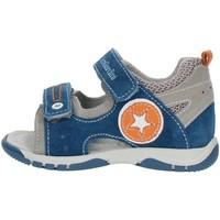 Scarpe Bambino Sandali Nero Giardini P823141M Azzurro grigio e arancio