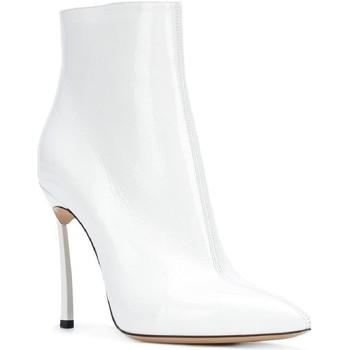 Scarpe Donna Stivaletti Casadei stivaletti alla caviglia donna in vernice con tacco bianco