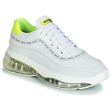 Scarpe Donna Sneakers basse Bronx BUBBLY Bianco / Giallo