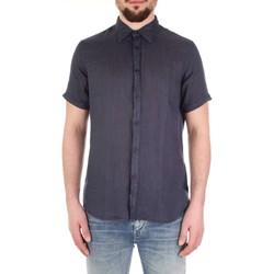 Abbigliamento Uomo Camicie maniche corte Fred Mello FM19S27CU Blu