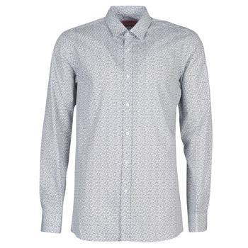 Abbigliamento Uomo Camicie maniche lunghe HUGO ELISHA02 Grigio