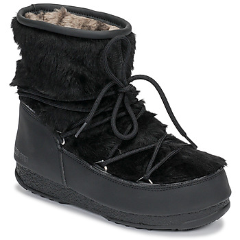 Scarpe Donna Stivali da neve Moon Boot MOON BOOT MONACO LOW FUR WP Nero